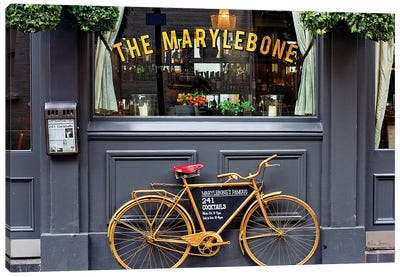 Marylebone Bike Canvas Art Print