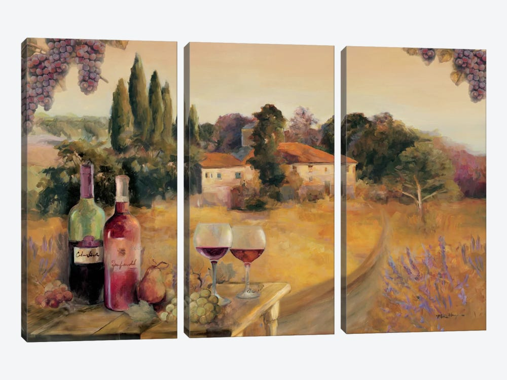 Spoleto Afternoon by Marilyn Hageman 3-piece Canvas Art Print