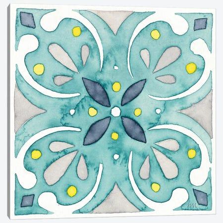 Garden Getaway Tile IV Teal Canvas Print #WAC8526} by Laura Marshall Art Print