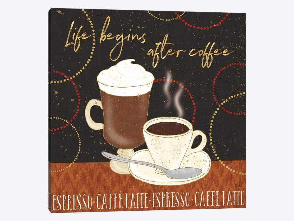 Fresh Coffee II 1-piece Canvas Art