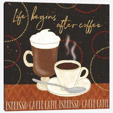 Fresh Coffee II Canvas Print #WAC8536} by Lisa Audit Canvas Wall Art
