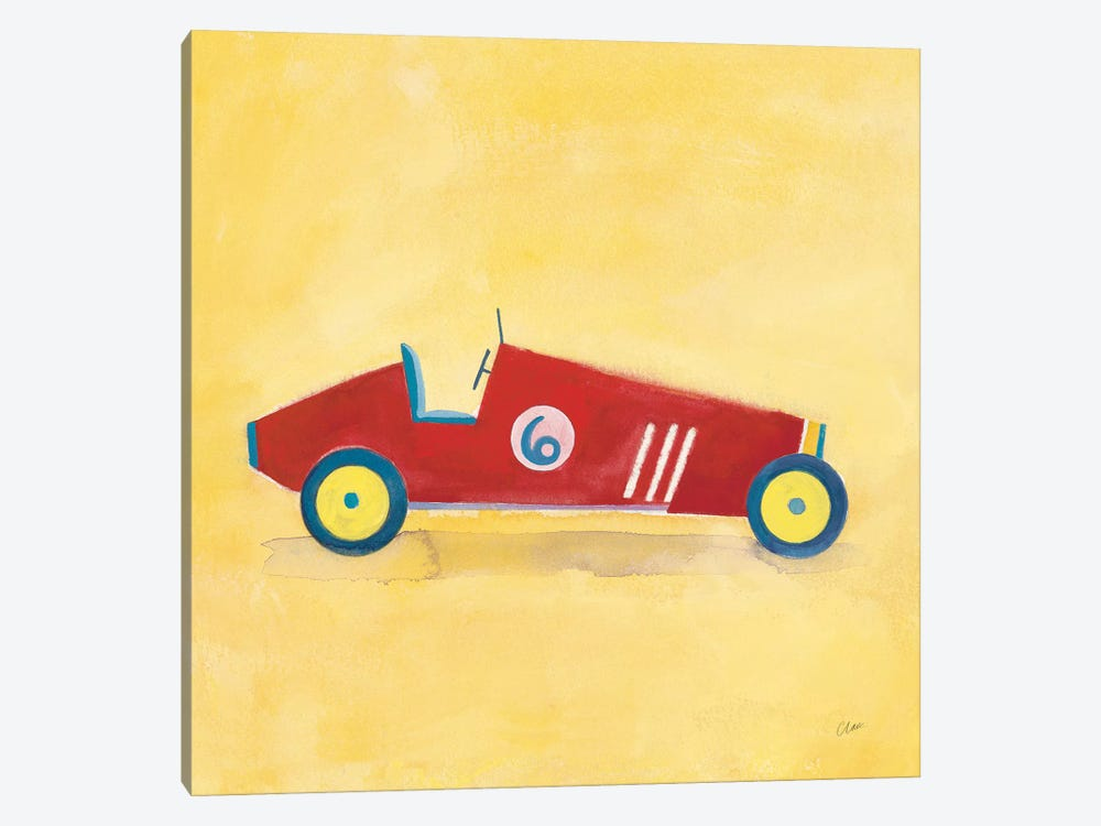 Race Car 6, Square by Michael Clark 1-piece Canvas Wall Art