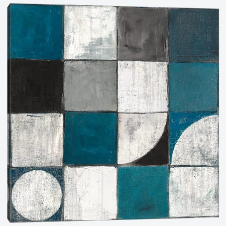 Tango Detal I Blue & Gray 3-Piece Canvas #WAC8557} by Mike Schick Canvas Art
