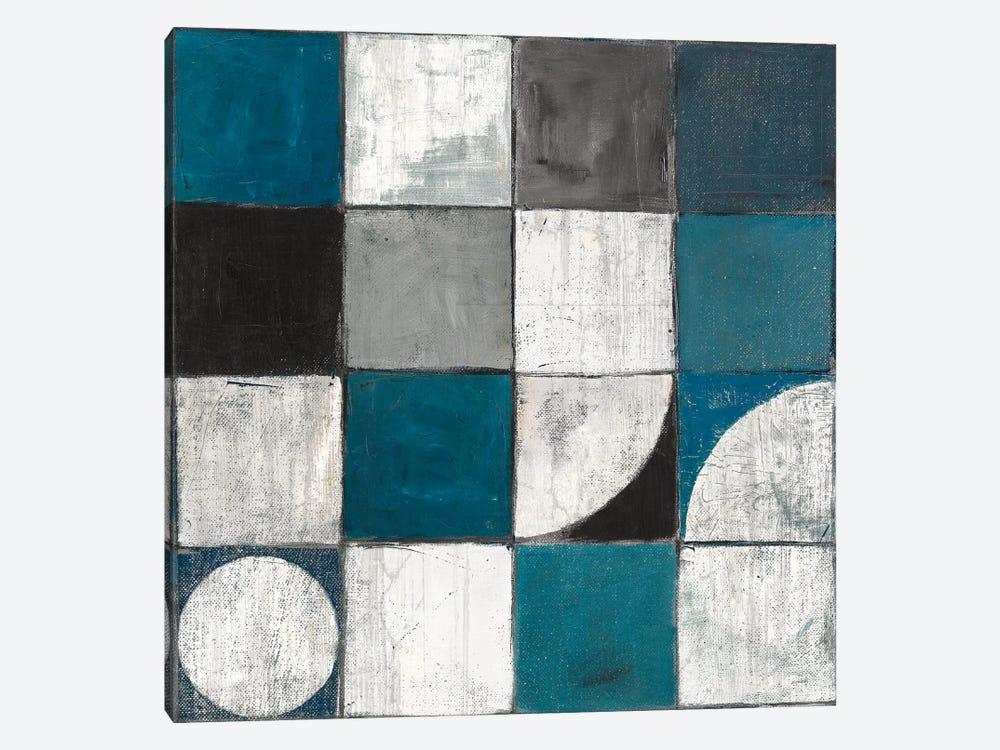 Tango Detal I Blue & Gray by Mike Schick 1-piece Canvas Print