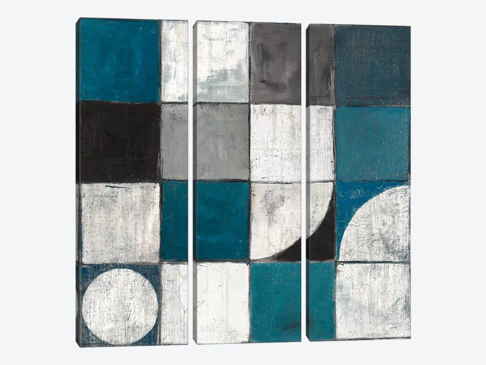 Tango Detal I Blue & Gray by Mike Schick 3-piece Art Print