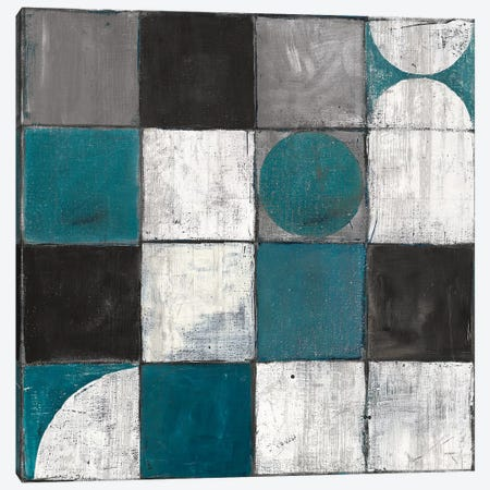 Tango Detal II Blue & Gray Canvas Print #WAC8558} by Mike Schick Canvas Art Print