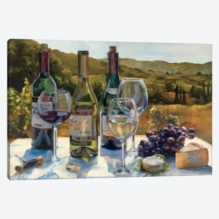 A Wine Tasting Canvas Print #WAC855} by Marilyn Hageman Canvas Artwork