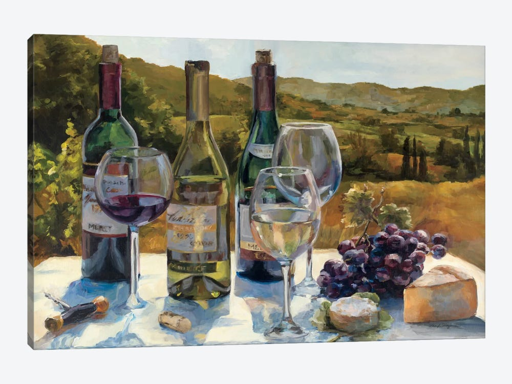 A Wine Tasting by Marilyn Hageman 1-piece Canvas Art Print
