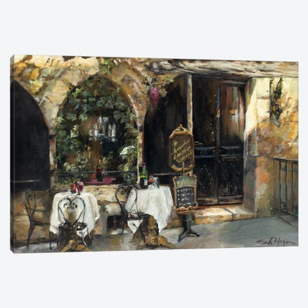 Meeting at the Cafe Canvas Print #WAC856} by Marilyn Hageman Canvas Artwork