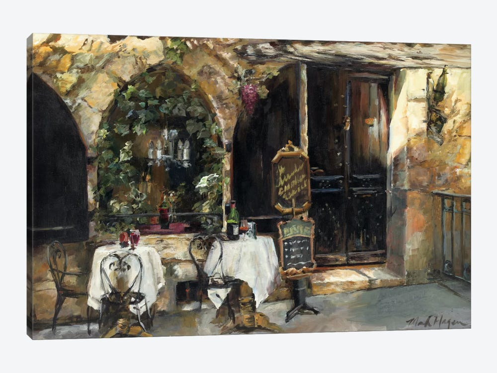 Meeting at the Cafe by Marilyn Hageman 1-piece Canvas Wall Art