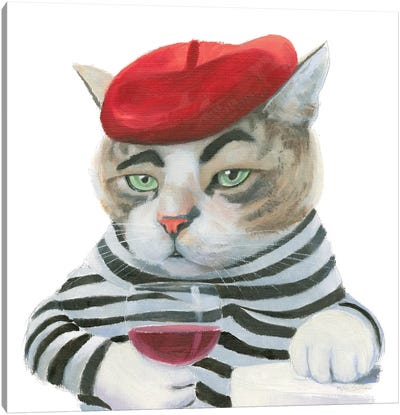 Cattitude III Canvas Art Print