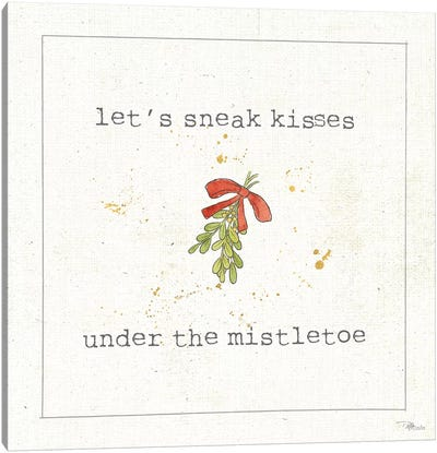 Christmas Cuties III: Under The Mistletoe Canvas Art Print