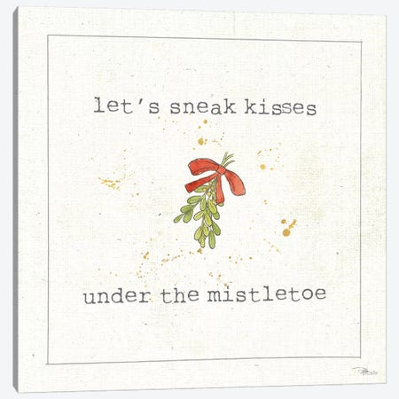 Christmas Cuties III: Under The Mistletoe Canvas Print #WAC8580} by Pela Studio Canvas Wall Art
