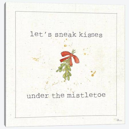 Christmas Cuties III: Under The Mistletoe Canvas Print #WAC8580} by Pela Studio Canvas Wall Art