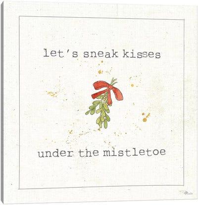 Christmas Cuties III: Under The Mistletoe Canvas Art Print