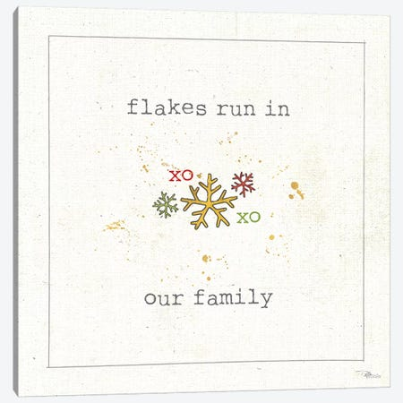 Christmas Cuties V: Flakes Run In Our Family Canvas Print #WAC8581} by Pela Studio Canvas Art