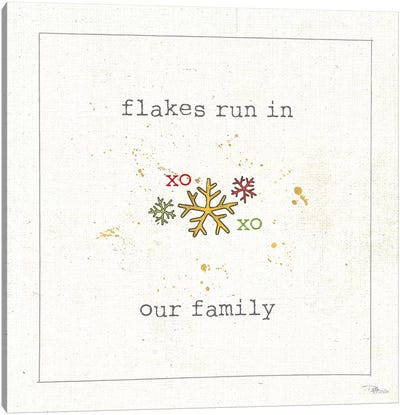 Christmas Cuties V: Flakes Run In Our Family Canvas Art Print
