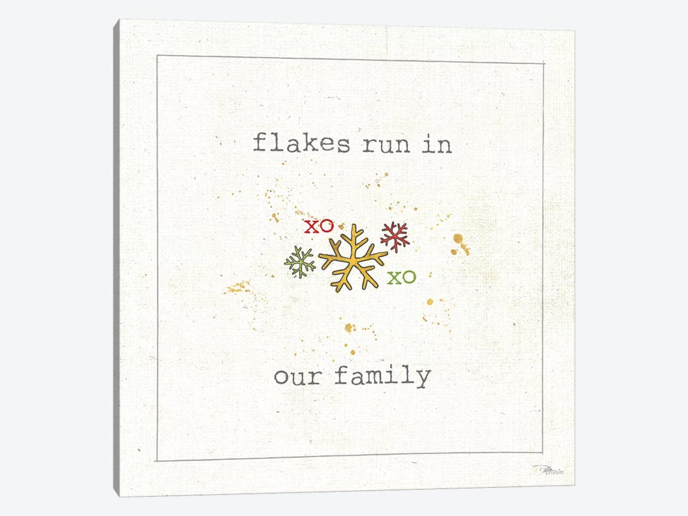 Christmas Cuties V: Flakes Run In Our Family by Pela Studio 1-piece Canvas Artwork