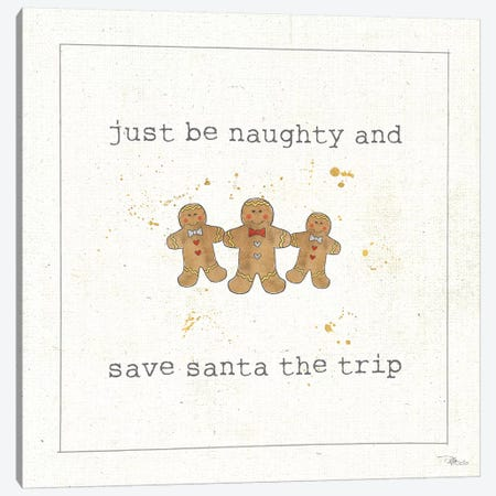 Christmas Cuties VI: Just Be Naughty And Save Santa The Trip Canvas Print #WAC8582} by Pela Studio Canvas Art