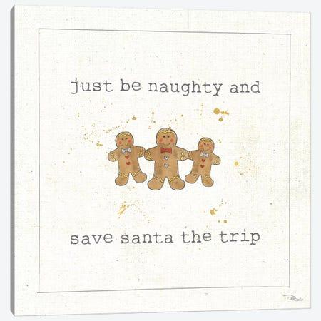 Christmas Cuties VI: Just Be Naughty And Save Santa The Trip Canvas Print #WAC8582} by Pela Studio Canvas Art