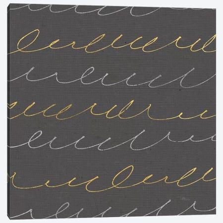 Coffee Cuties Pattern II, Black Background Canvas Print #WAC8585} by Pela Studio Canvas Art Print