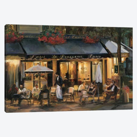 La Brasserie Canvas Print #WAC859} by Marilyn Hageman Canvas Art Print