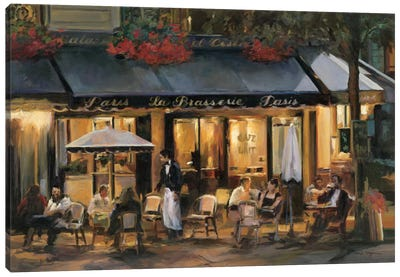 La Brasserie I by Marilyn Hageman Canvas Art Print