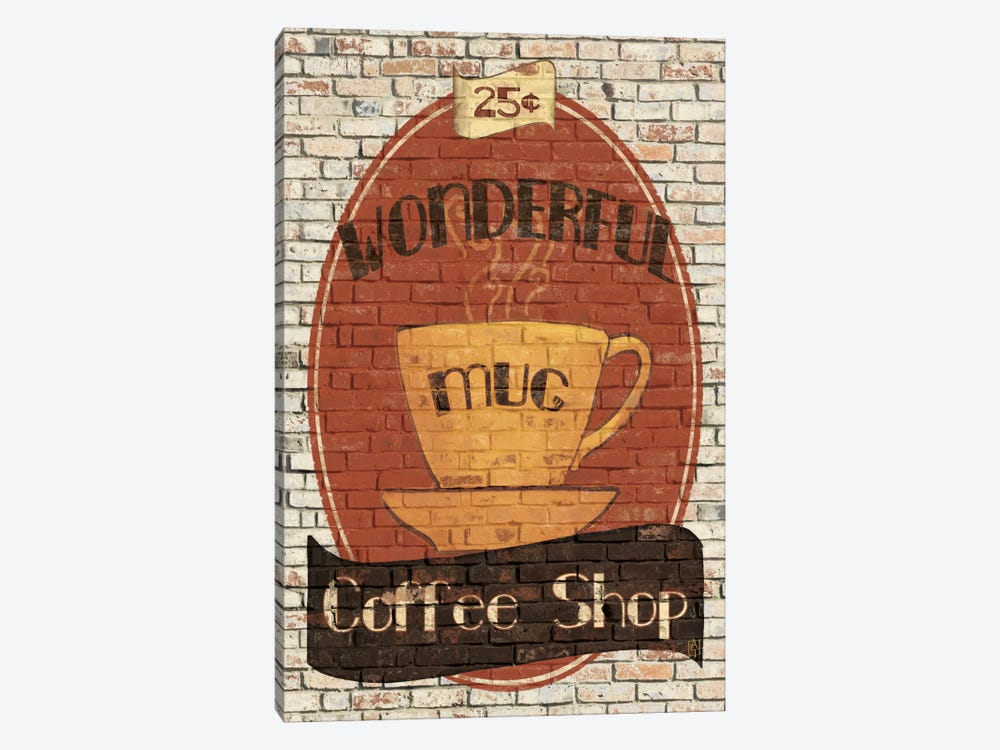 Wonderful Coffee Shop by Avery Tillmon 1-piece Canvas Print