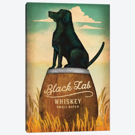Black Lab Whiskey Canvas Print #WAC8601} by Ryan Fowler Canvas Art Print