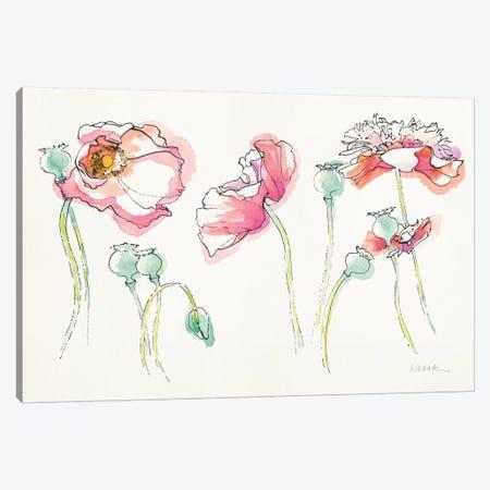 Pink Somniferums, Bright Canvas Print #WAC8604} by Shirley Novak Canvas Wall Art