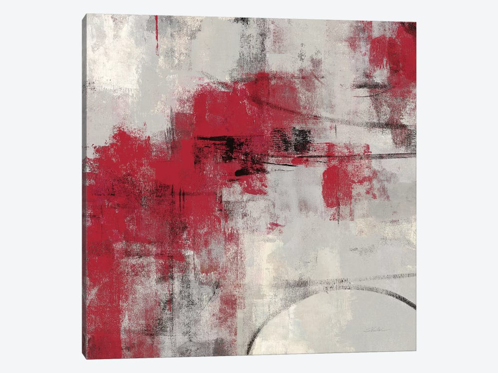 Stone Gardens II Red by Silvia Vassileva 1-piece Canvas Artwork