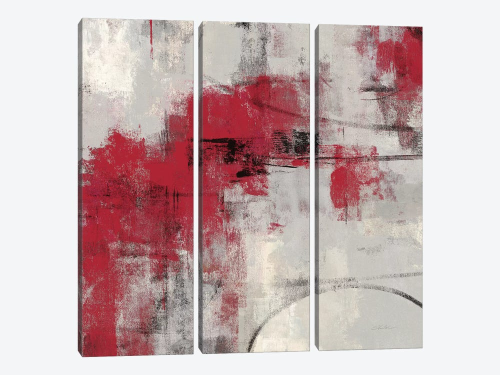 Stone Gardens II Red by Silvia Vassileva 3-piece Canvas Artwork