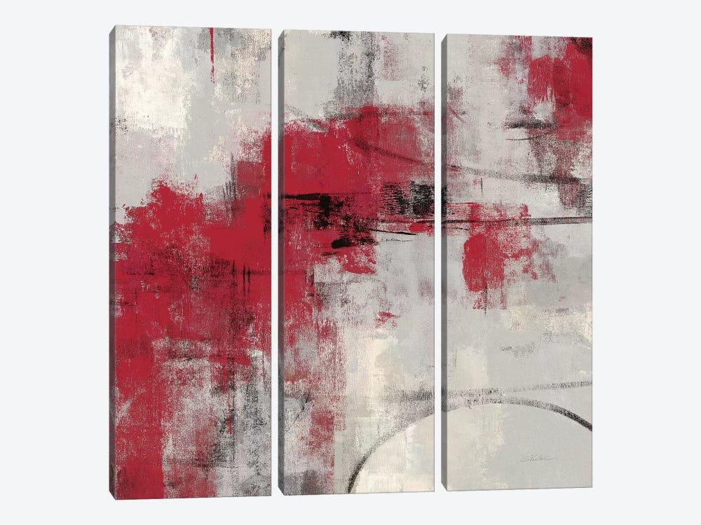 Stone Gardens II Red by Silvia Vassileva 3-piece Canvas Artwork
