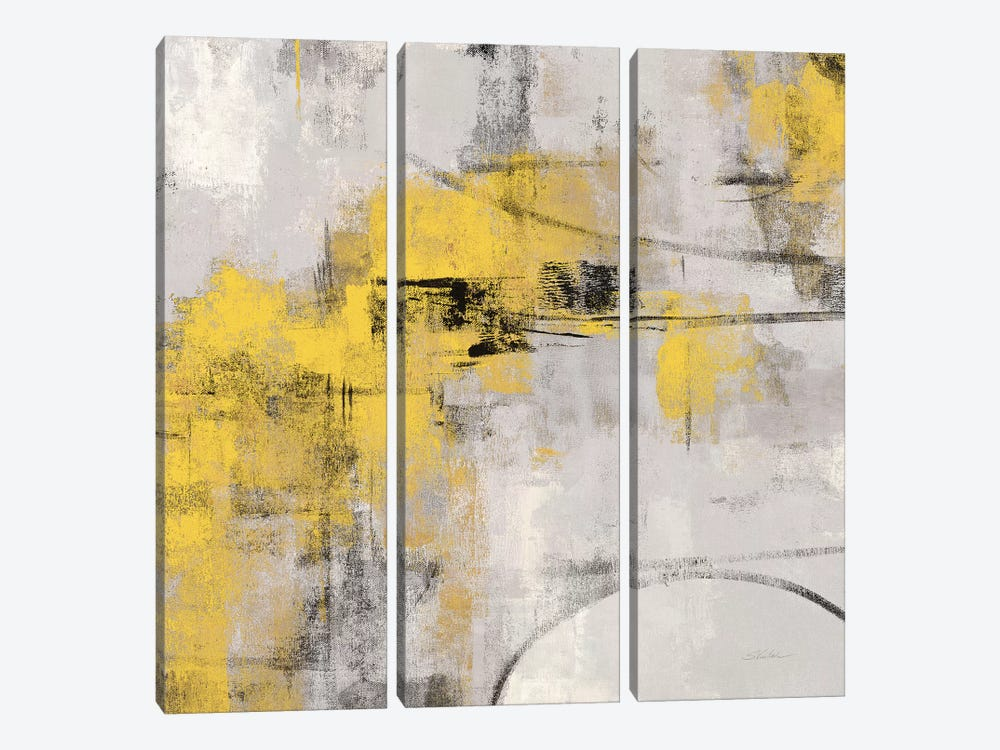 Stone Gardens II Yellow by Silvia Vassileva 3-piece Canvas Art Print