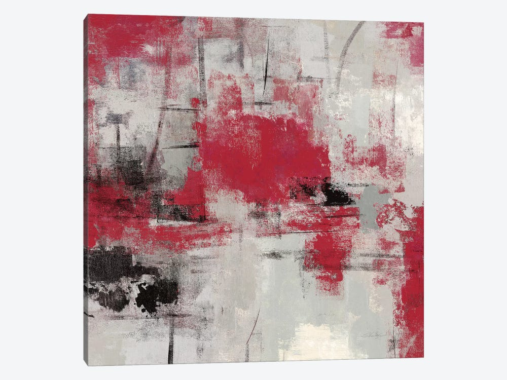 Stone Gardens III Red by Silvia Vassileva 1-piece Canvas Art