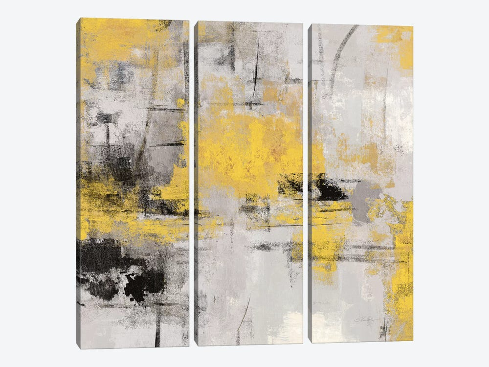 Stone Gardens III Yellow by Silvia Vassileva 3-piece Art Print