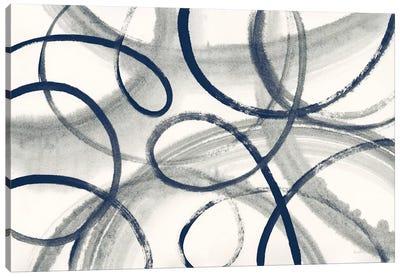 Calligraphia With Navy Canvas Art Print