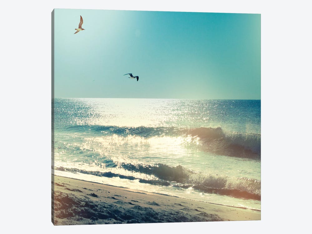 Coastline Waves, No Words 1-piece Canvas Art