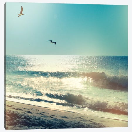Coastline Waves, No Words Canvas Print #WAC8625} by Sue Schlabach Canvas Artwork