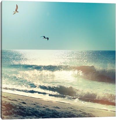 Coastline Waves, No Words Canvas Art Print