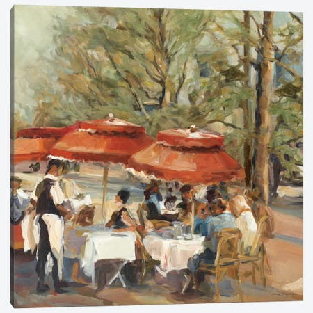 Lunch on the Champs Elysees Canvas Print #WAC862} by Marilyn Hageman Canvas Artwork
