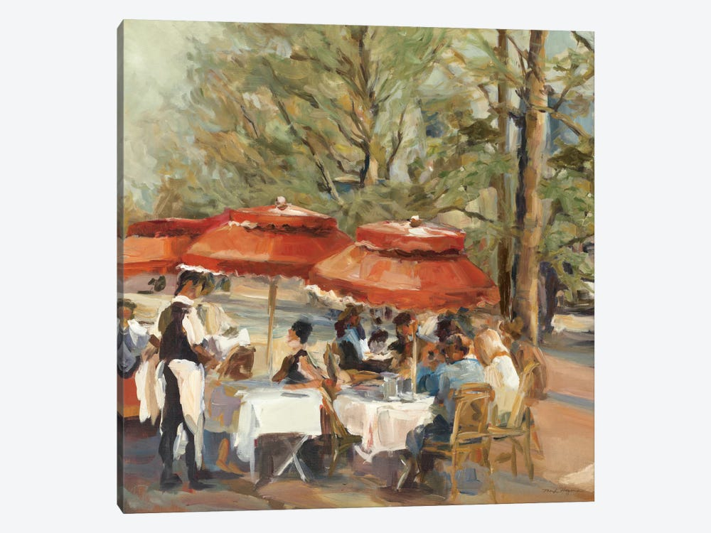 Lunch on the Champs Elysees by Marilyn Hageman 1-piece Canvas Print
