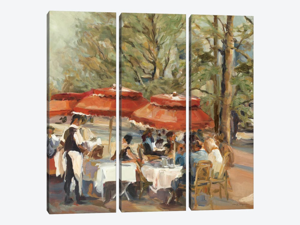 Lunch on the Champs Elysees by Marilyn Hageman 3-piece Canvas Print
