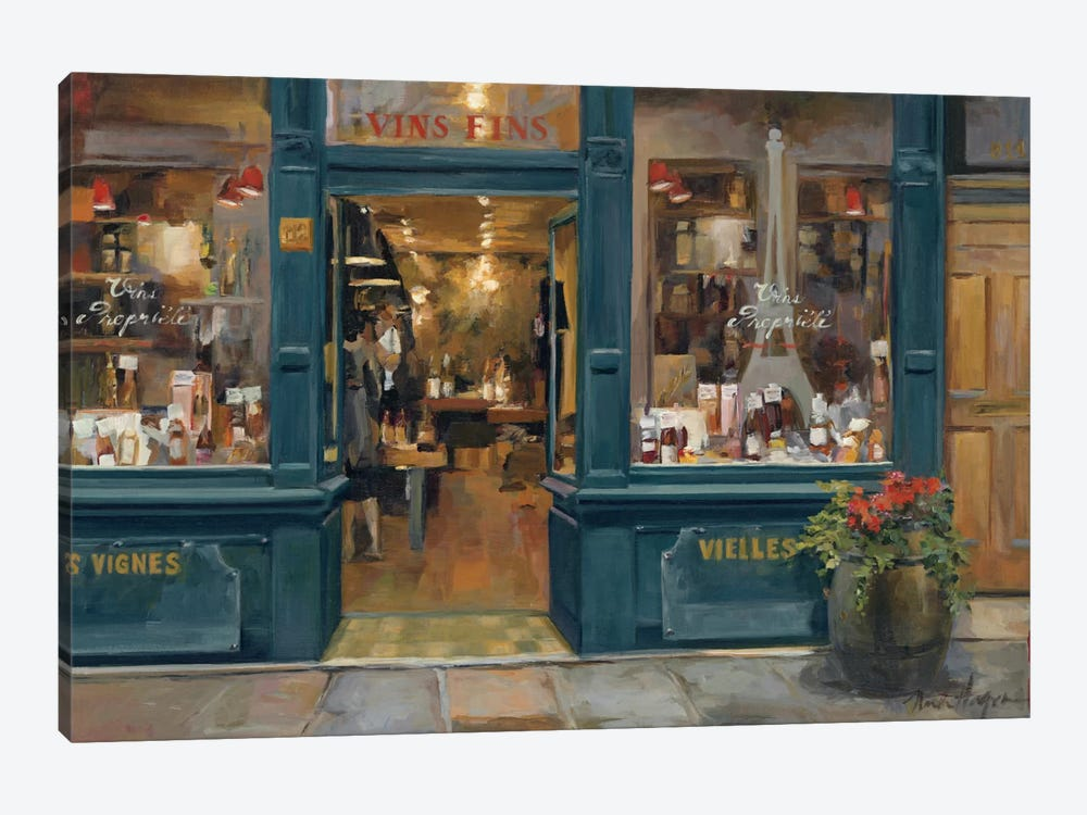 Parisian Wine Shop by Marilyn Hageman 1-piece Canvas Art