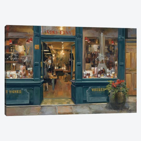 Parisian Wine Shop Canvas Print #WAC863} by Marilyn Hageman Canvas Wall Art