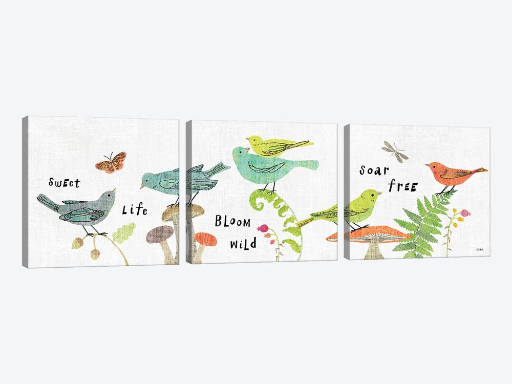 Wild Wings VIII by Sue Schlabach 3-piece Art Print