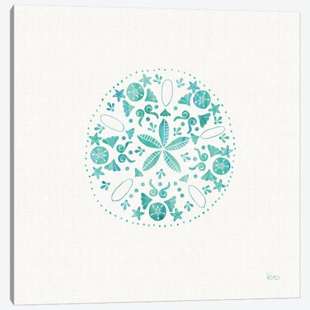 Sea Charms II Teal, No Words Canvas Print #WAC8644} by Veronique Charron Canvas Art