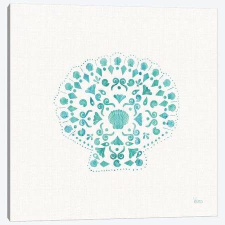 Sea Charms III Teal, No Words Canvas Print #WAC8646} by Veronique Charron Canvas Wall Art