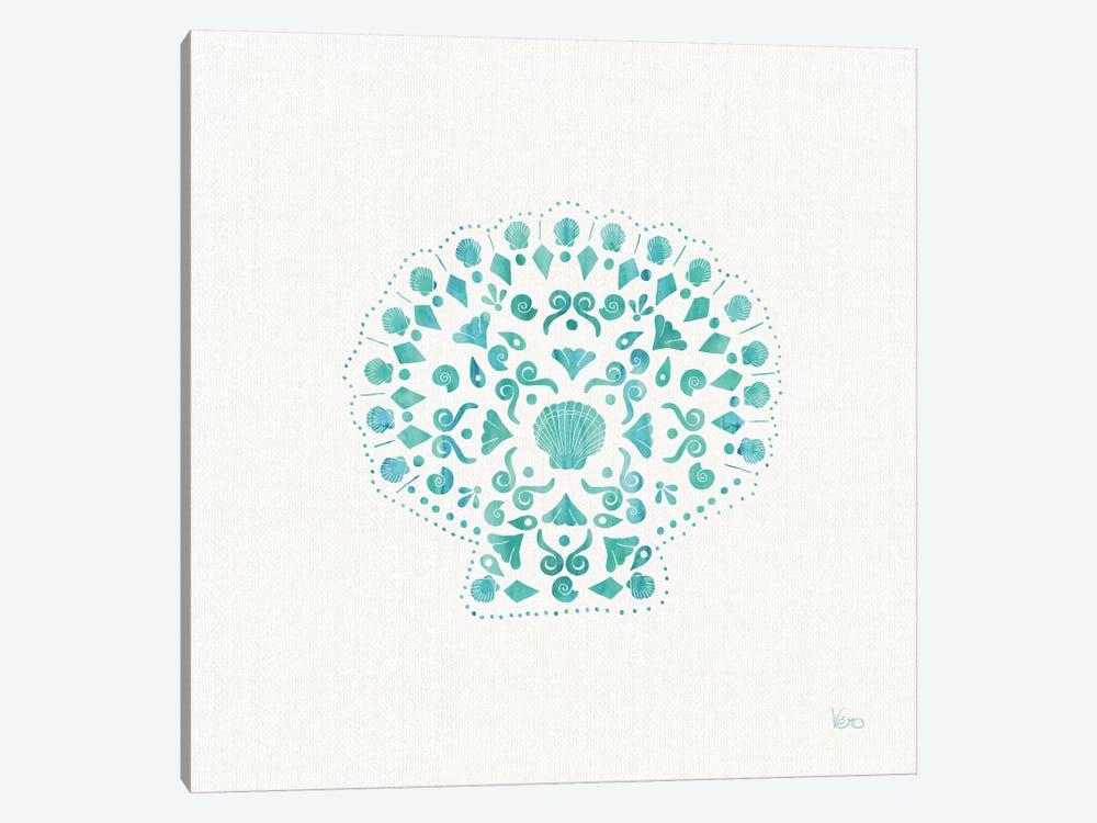 Sea Charms III Teal, No Words by Veronique Charron 1-piece Canvas Print