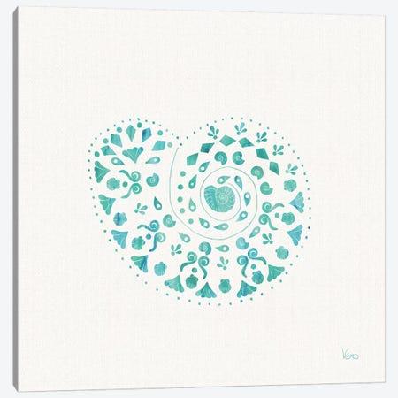 Sea Charms IV Teal, No Words Canvas Print #WAC8648} by Veronique Charron Canvas Print